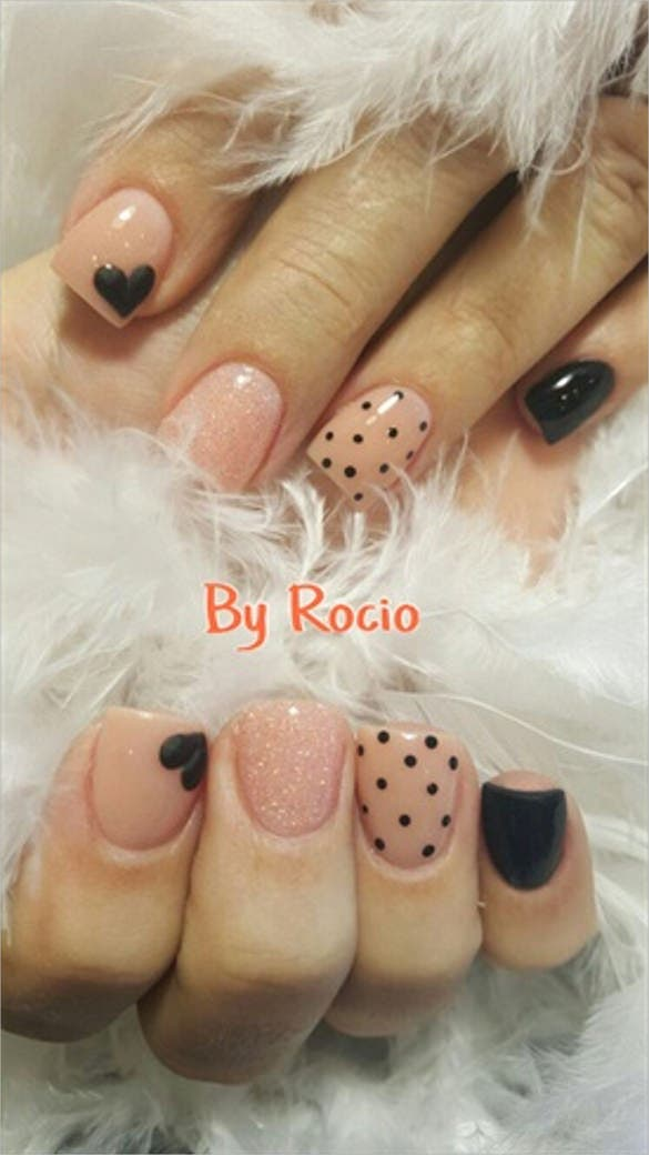 elegant 3d nail art design template