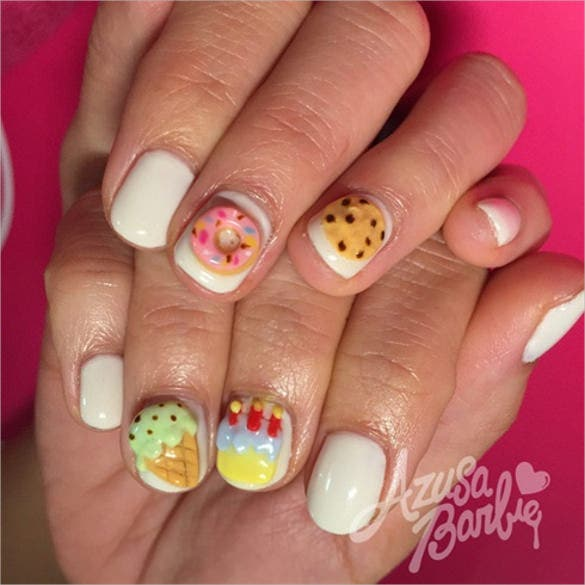 3d sweet nail design template