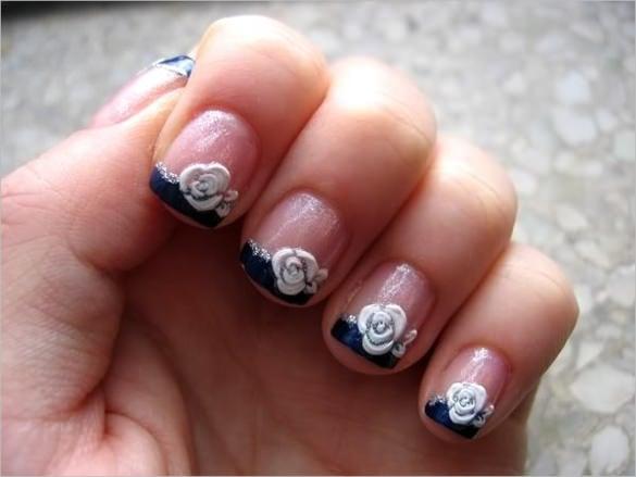 3d floral nail design template