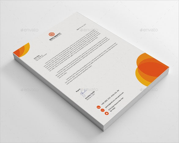 Business Letterhead Template Download  Free Company Letterhead