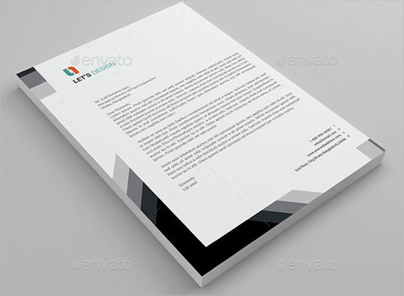 Black and white letterhead acurnamedia black and white letterhead spiritdancerdesigns Image collections