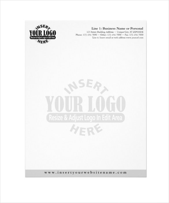 basic business letterhead with watermaker download
