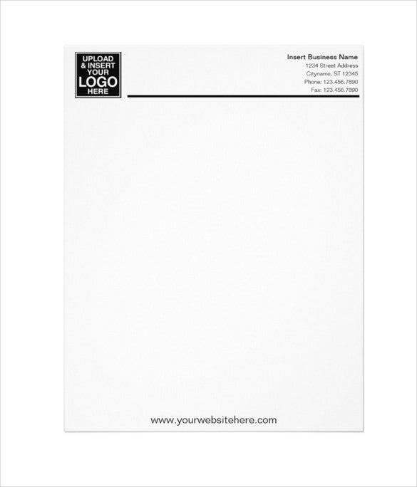 basic business office letterhead template
