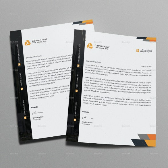 letterhead for business corporate template