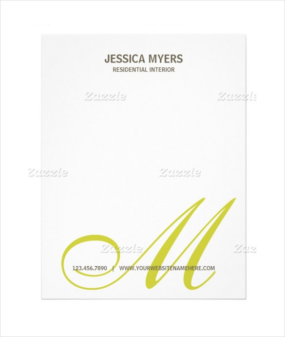 script monogram business letterhead download