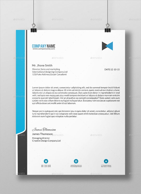 20 business letterhead templates free sample example format download free premium templates. Black Bedroom Furniture Sets. Home Design Ideas