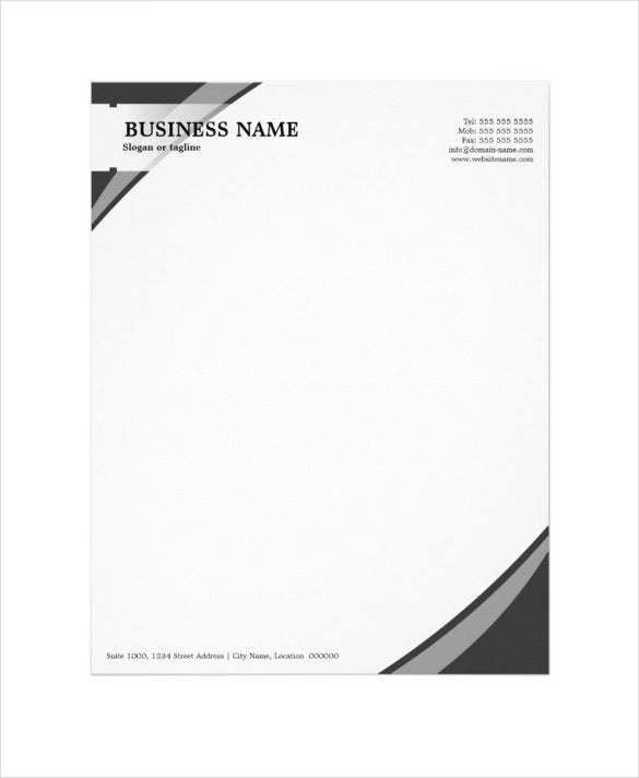 32 professional letterhead templates free sample for Free letterhead templates with logo
