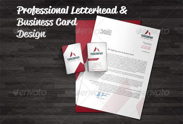 professional letterhead and business card design template