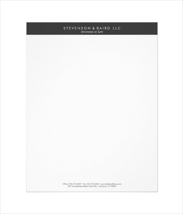 Simple Professional Black And White Letterhead Download  Company Letterhead Samples