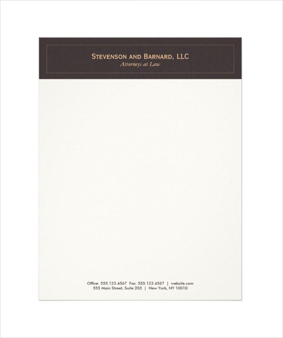 classic and professional brown letterhead template download