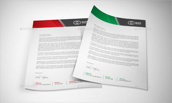 22professional letterhead vector eps ai illustrator template download 1