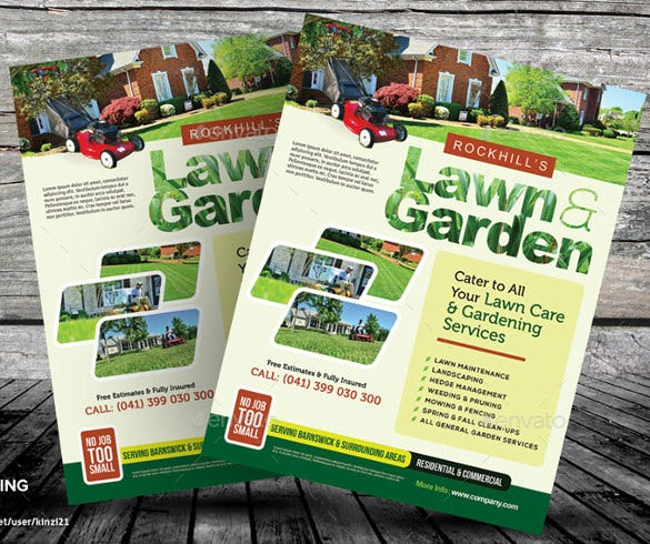 fully editable lawn care flyer template