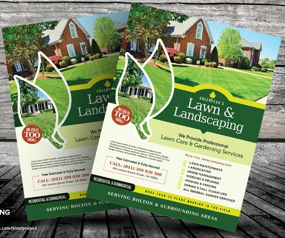 perfect lawn care flyer template