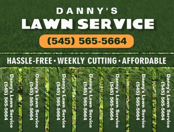 high quality lawn care flyer template