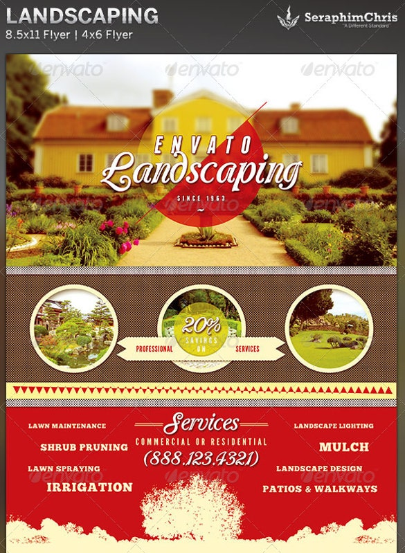landscape lawn care flyer template