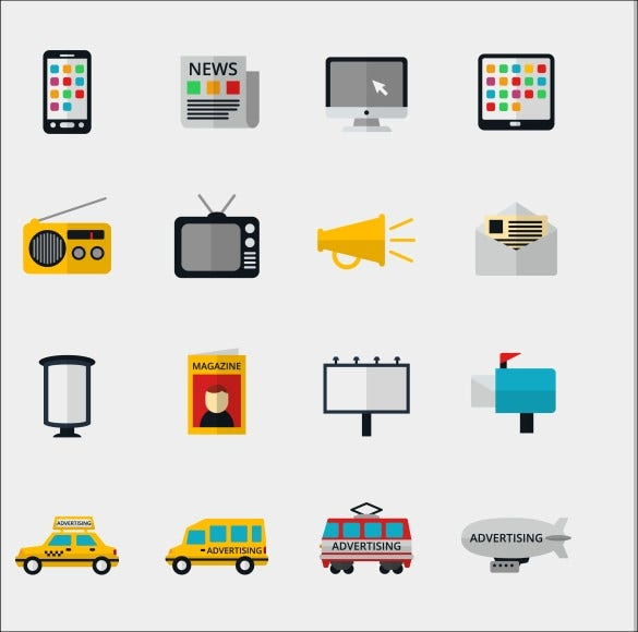 advertisement and marketing icons download