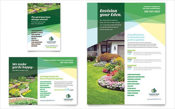 designed lawn care flyer templet