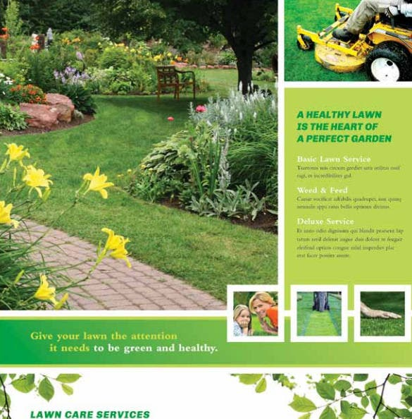 ready to make lawn care flyer template