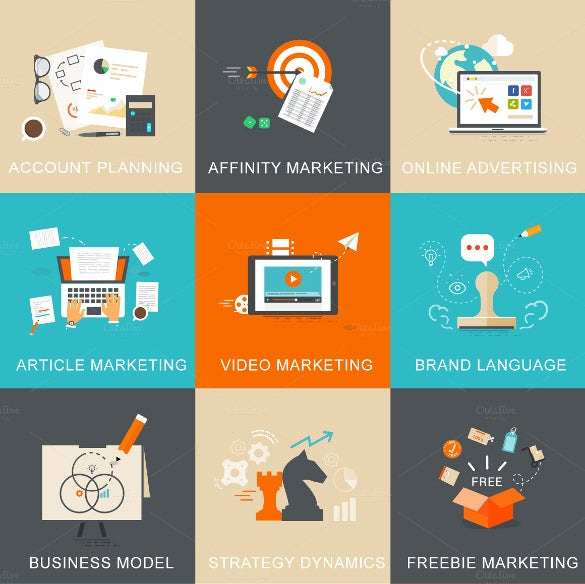 business and marketing concept icons download