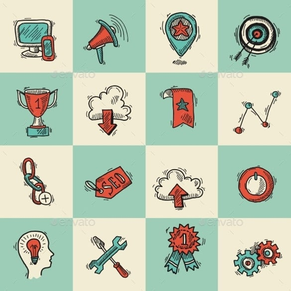 simple marketing icons download