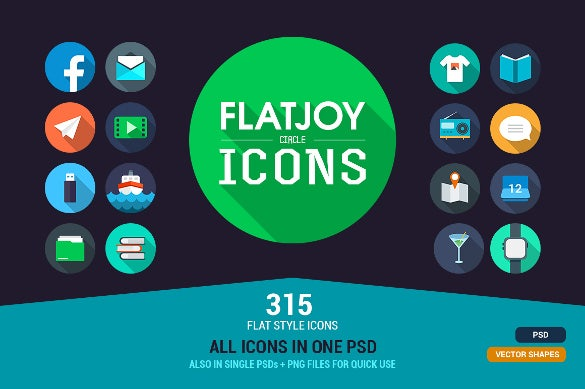 flatjoy circle marketing icon download
