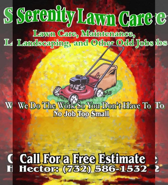 customizable lawn care flyer template