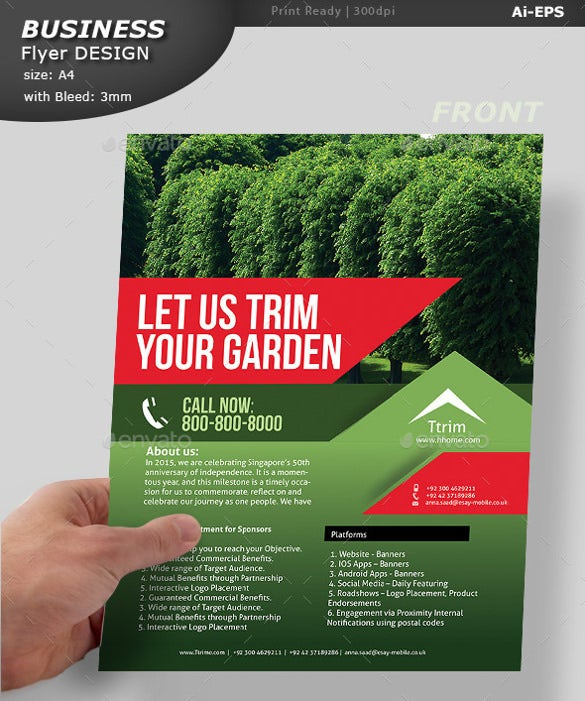 Print Ready Lawn Care Flyer Template