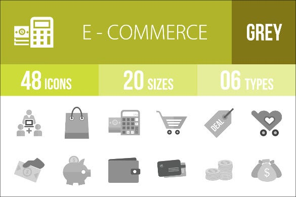 e commerce marketing icons template