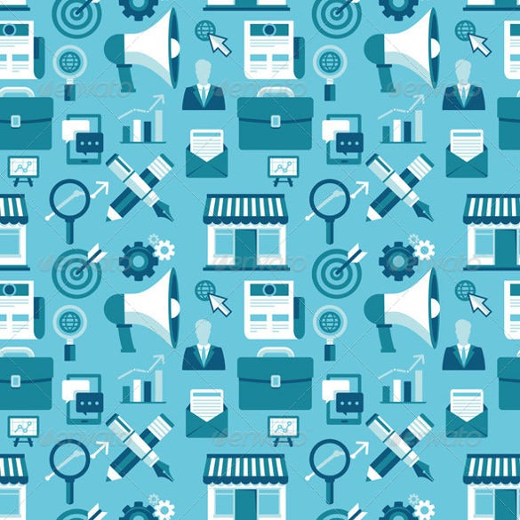 seamless pattern with marketing icons download