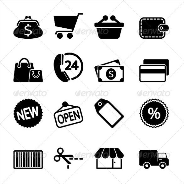 simpe designed marketing icon download