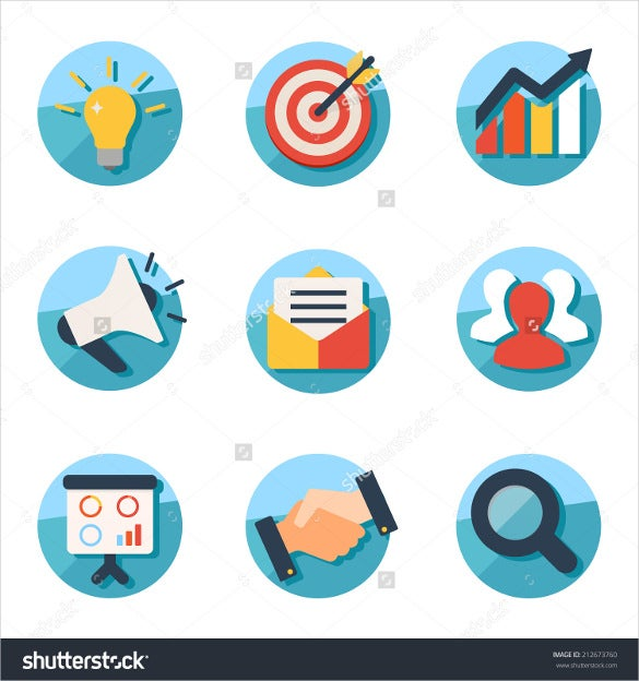 business strategy and marketing icons download