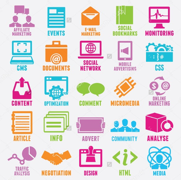 elegant marketing icons download