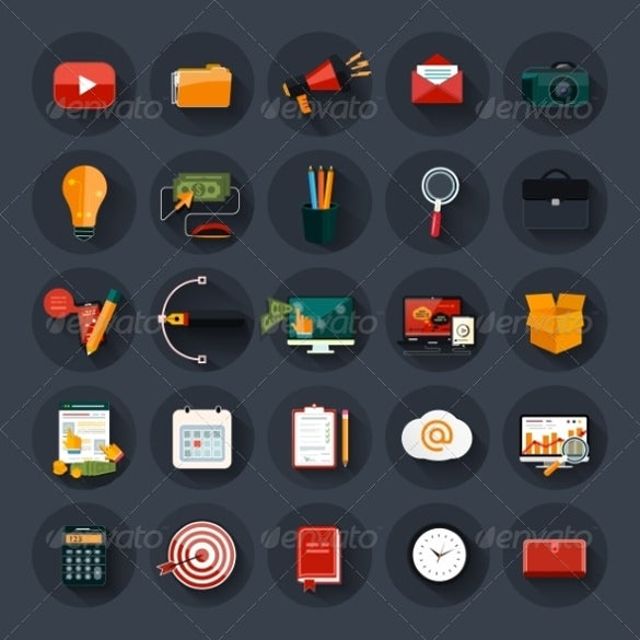 web design business and marketing icons download