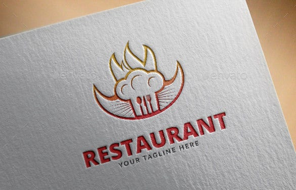 fully editable restaurant logo template