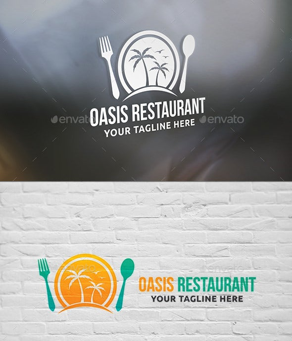 3 colors restaurant logo templates