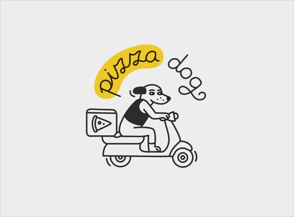 pizza delivery restaurant logo template
