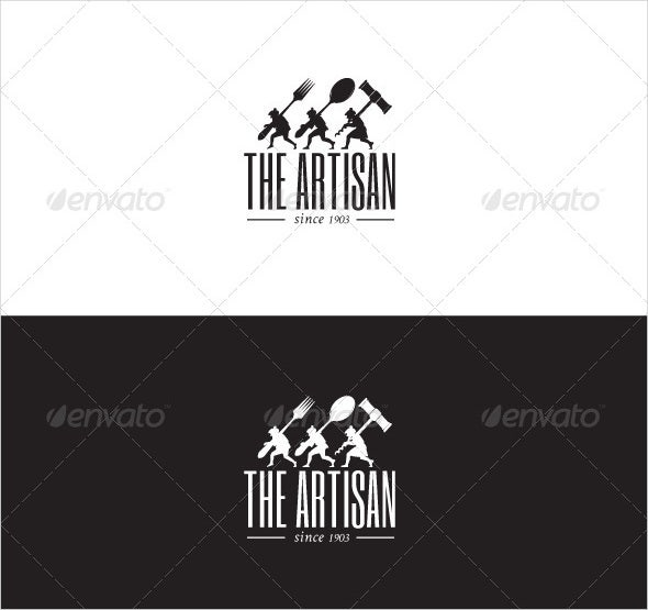 1903 restaurant logo template