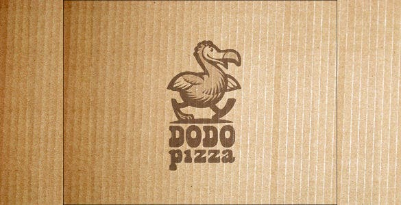 duck pizza restaurant logo template