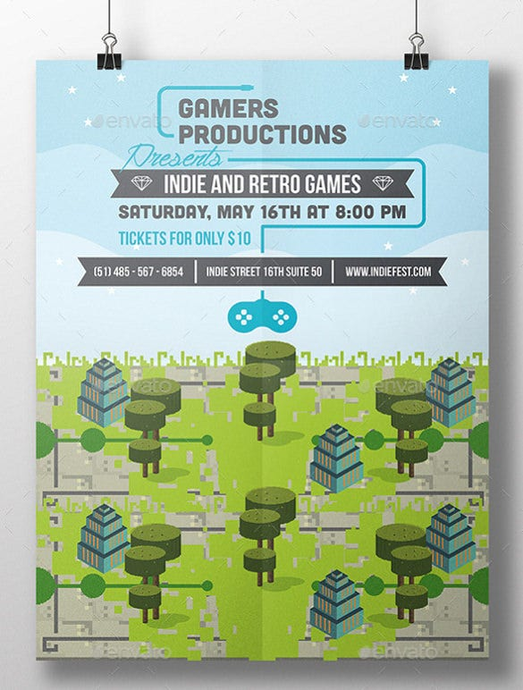 premium game event annoncement flyer template