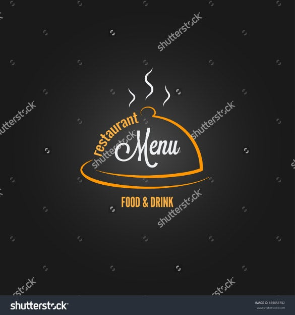 food and drink restaurant logo template