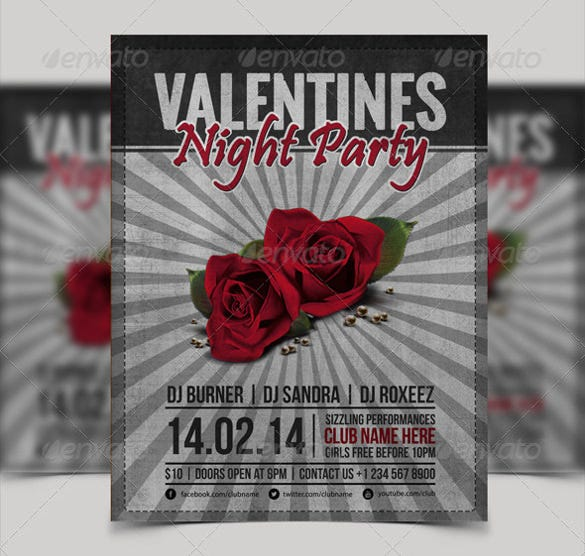 valentine day event organization flyer