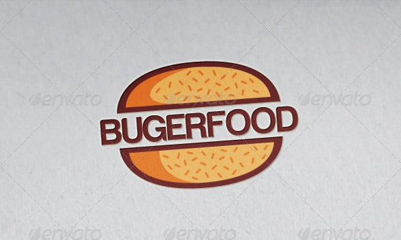burger food restaurant logo template