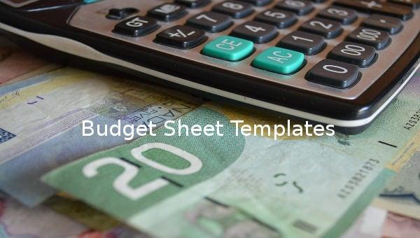 budget sheet template