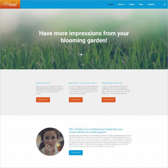 responsive manuel wordpress parallax theme