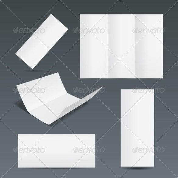 set of blank flyer templates