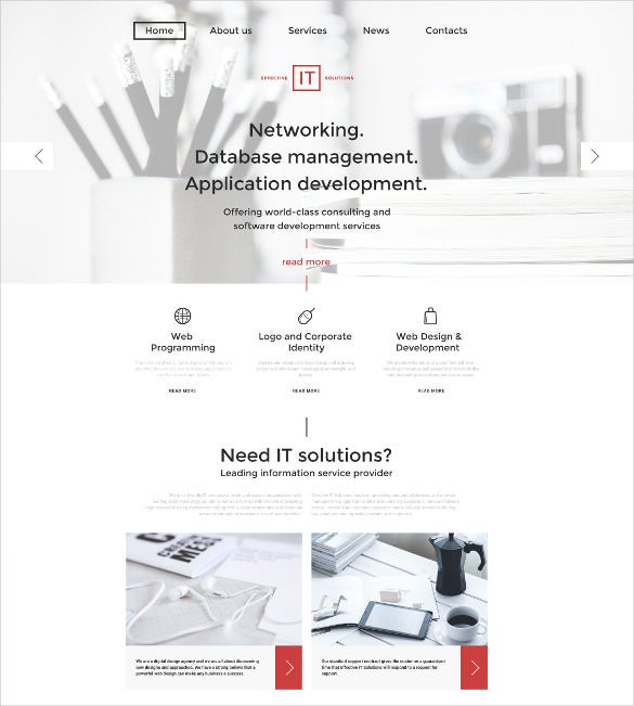 effective it solutions responsive parallax wordpress theme