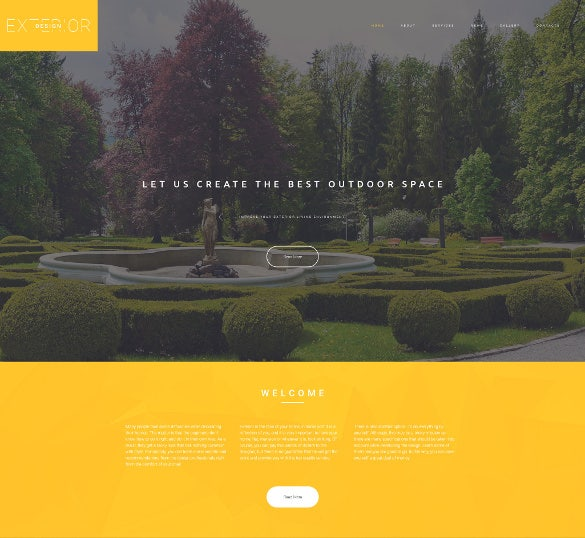 exterior design responsive parallax website template