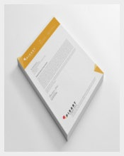 Letterhead Design in Orange Colour Template