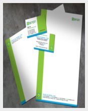 Construction Company Letterhead in Green Colour Template Download