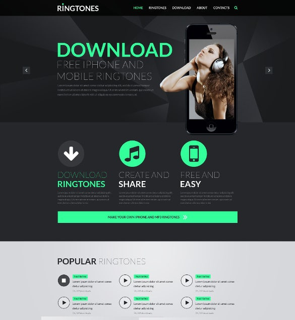 29 music html5 themes templates free premium templates for Asp net design templates free download